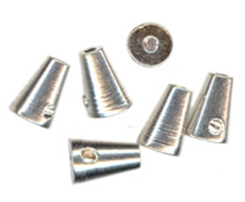 7x4mm - Beadalon - Silver - 10 pack - Screw Crimp Cone (Last stock)