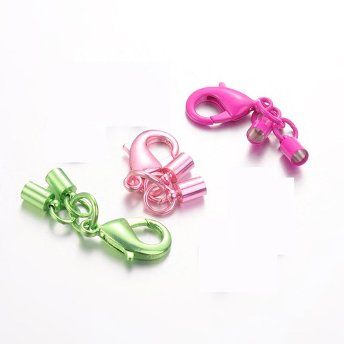 44mm - Mix - 7 pack - Rack Plating Lobster Clasp with matching Column Cord ends