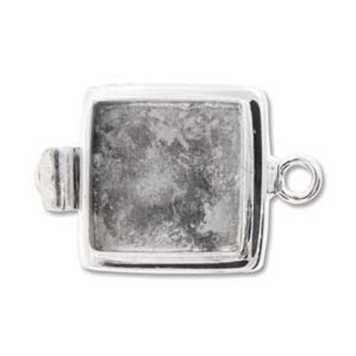 Box Clasp - 15mm Square - Setting for Cameo, Cabochon, Resin, Collage or Clay