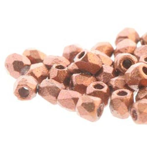 FPR0200030-01750 - TRUE 2 - Bronze Fire Red - 100pcs - Czech Fire Polished beads