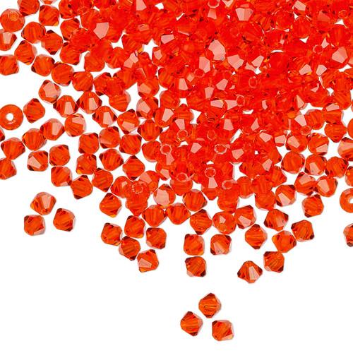 3mm - Preciosa Czech - Hyacinth - 48 pk - Faceted Bicone Crystal