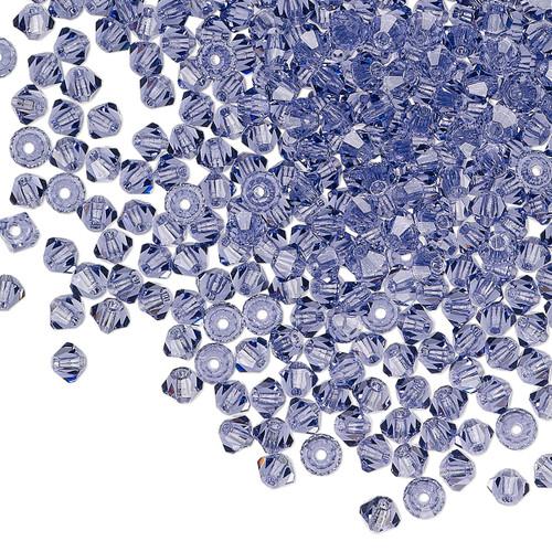 3mm - Preciosa Czech - Tanzanite - 48 pk - Faceted Bicone Crystal