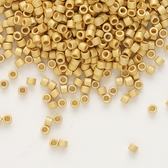 DB0331 - 11/0 - Miyuki Delica - Opaque 24Kt Gold-Finished - 4gms - Cylinder Seed Bead