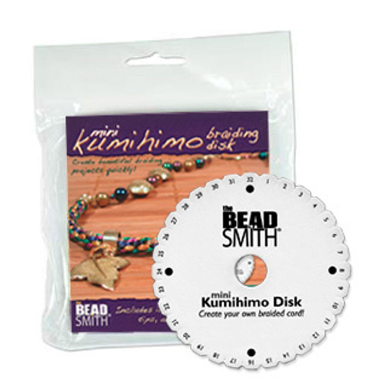 """4.25"""" Kumihimo Disc Round with instructions"""
