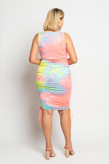 Curvy Color Splash Dress