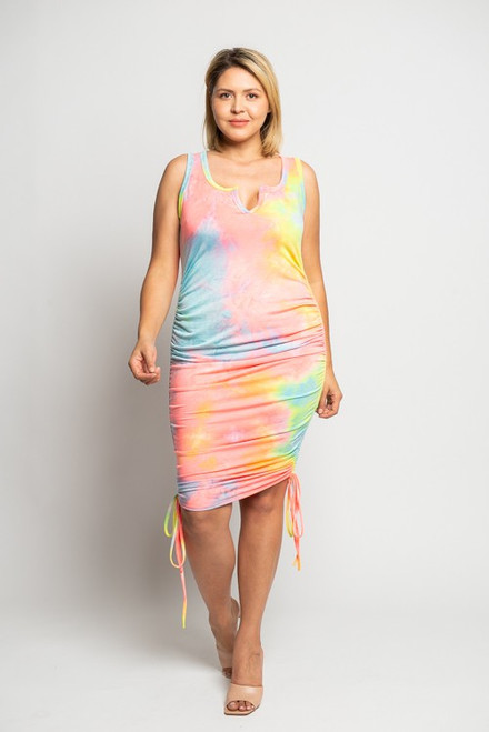 Curvy Color Splash Dress