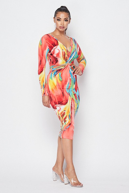 Airelle Twisted Front Dress