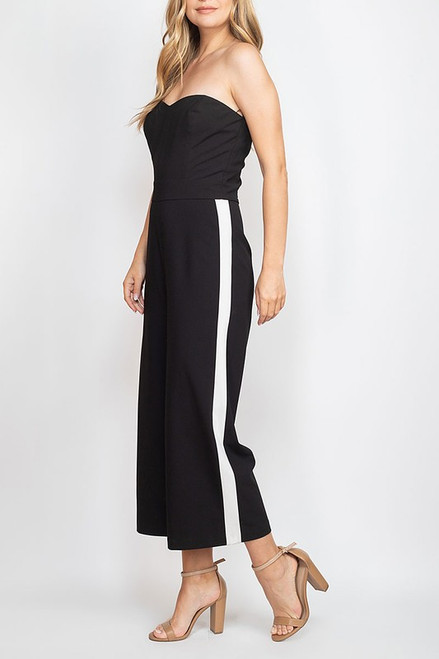The Strapless Tux Jumper
