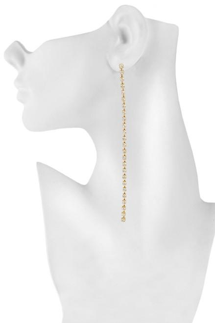 Rhinestone String Earrings