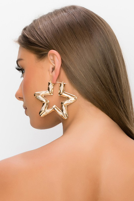 Chunky Star Earrings