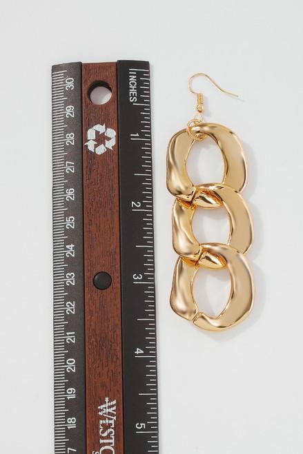 Gold Chain Link Earrings