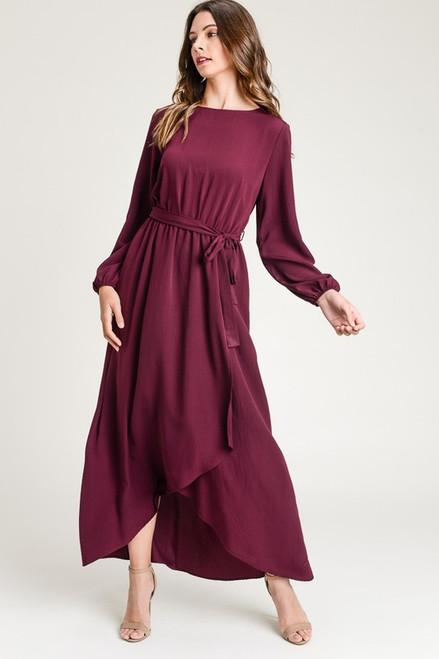 Merlot Woven Maxi Dress