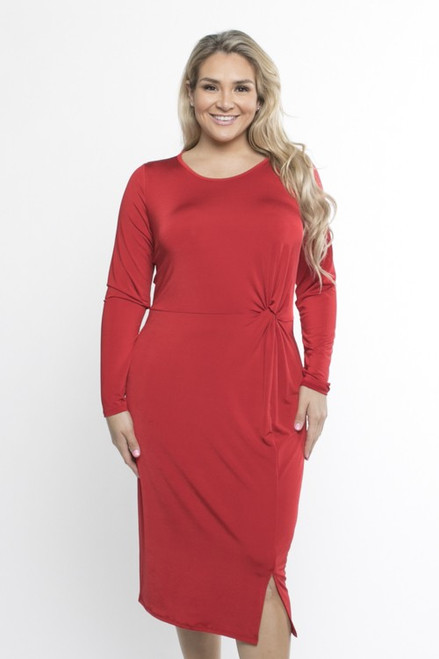 Red Layla Midi Dress
