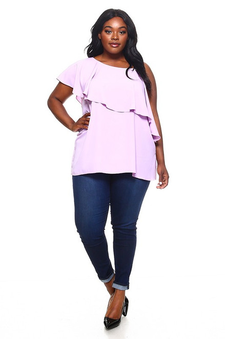 Lavendar One Shoulder Top