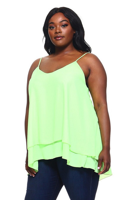 Neon Green Layered Tank