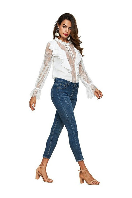 White Lacy Lucy Blouse