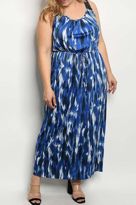 Navy Lace Maxi Dress