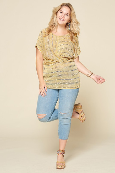 Butter Twist Front Knit Tee