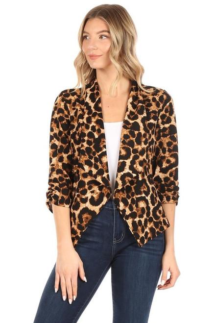 Leopard Shawl Blazer