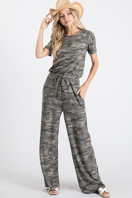 Camo Pocket Jumpsuit