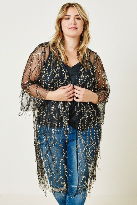 Sheer Sequin Duster