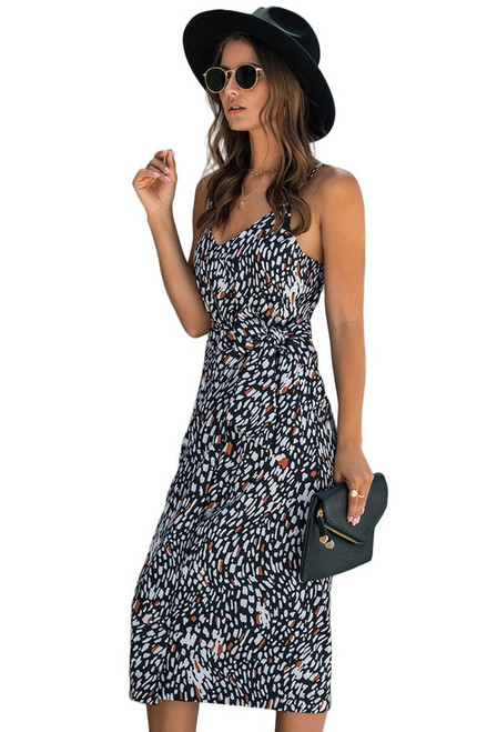 Millie Printed Wrap Midi