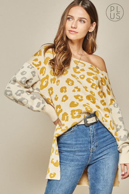 Leopard Mix Sweater