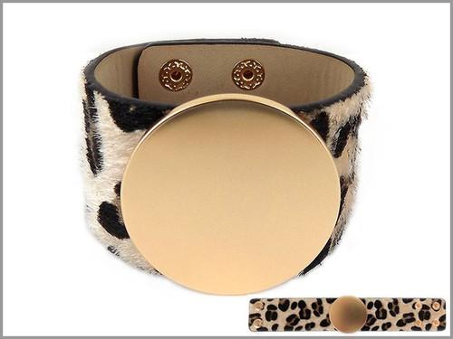 Leopard Disc Wrap Bracelet