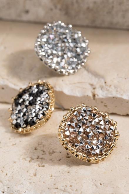 Glitter Stone Studs