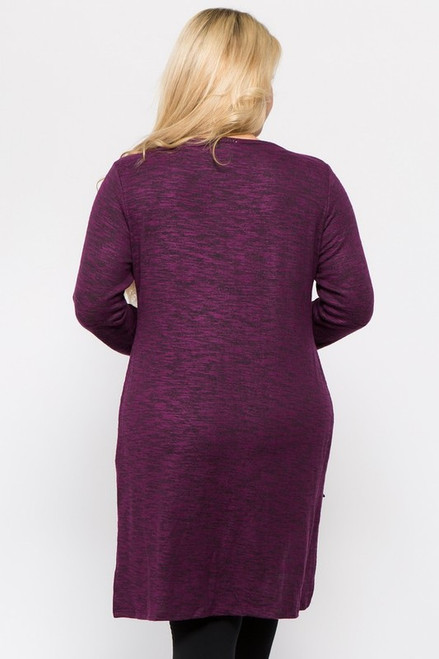 Curvy Hi-Lo Purple Burnout Top