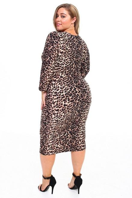 Curvy Leopard Bodycon Midi