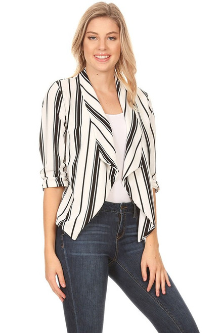 Christina Stripe Blazer