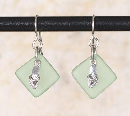 Seaglass Flip Flop Charm Earring