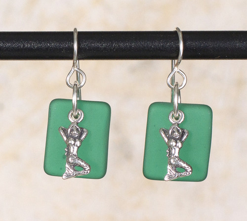 Seaglass Mermaid Charm Earring