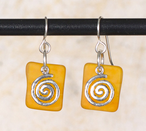 Seaglass Swirl Charm Earrings