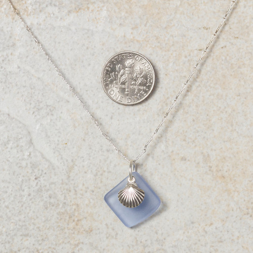 Seaglass Seashell simplicity necklace