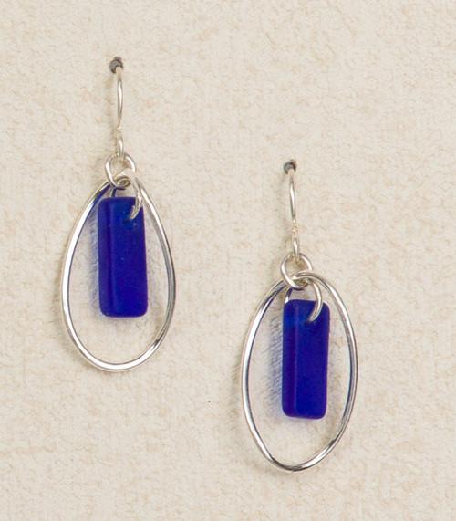 Seaglass Mobius Earring