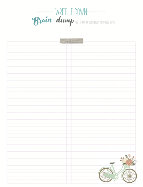 picture about Brain Dump Worksheet titled Thoughts Dumping Worksheets