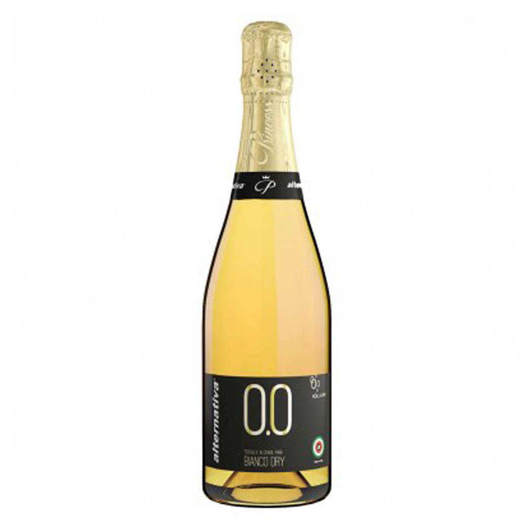 Non-Alcoholic Sparkling White Wine Princess Bollicine Bianco Dry 750 mL