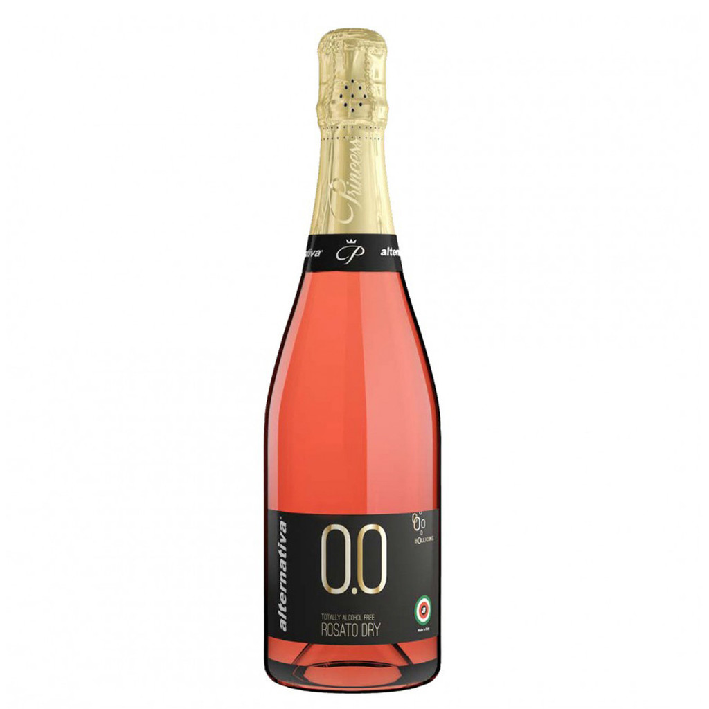 Princess Bollicine Rosato Dry Non-Alcoholic Sparkling Rose Wine 750 mL