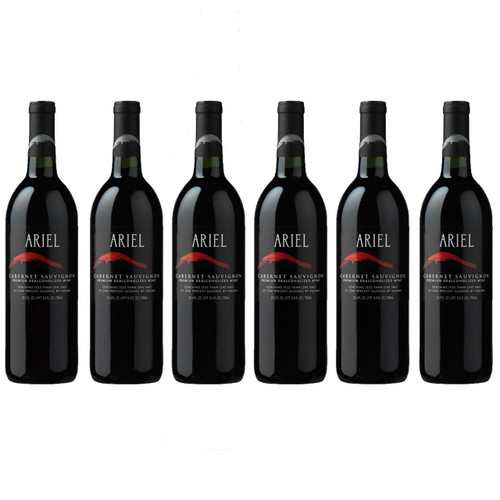 6 x ARIEL Cabernet Sauvignon Non-Alcoholic (0.5%) Red Wine 750 mL (Free Shipping)