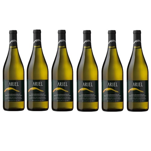 6 x ARIEL Chardonnay Non-Alcoholic (0.5%) White Wine 750 mL (Free Shipping)