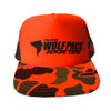 UTV Wolfpack Camo Hat Orange with Black Logo Snapback Trucker