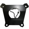 Polaris RZR Turbo S rear plate powder coated black