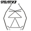 Can Am X3 2 seat flat top cage