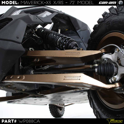 "(2017-20)Can Am X3 72"" Model Stock Replacement bolt on HD kitCan Am Maverick X3 XRS 72'' Chromoly Front A Arms Heavy Duty"