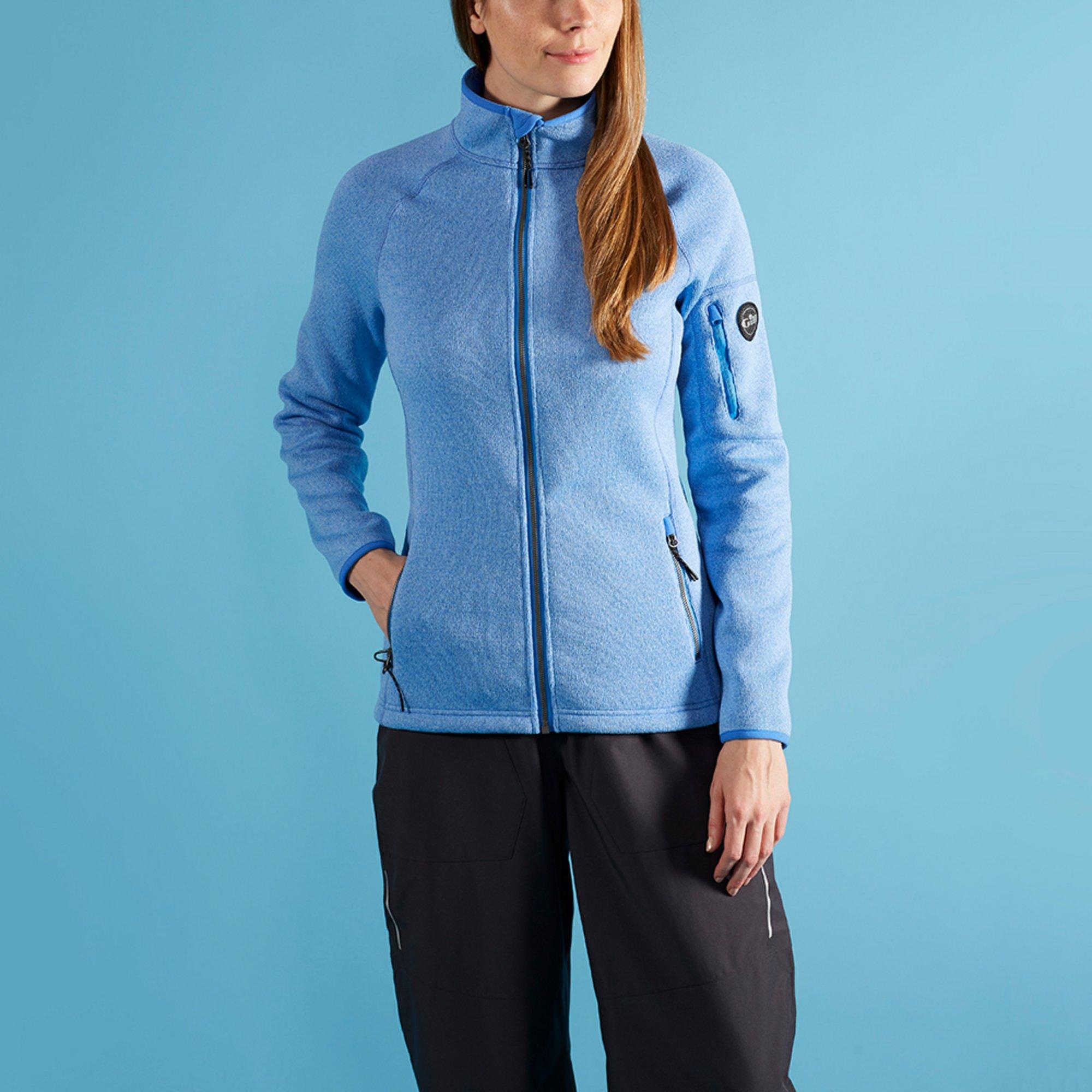 Women's Knit Fleece Jacket - 1493W-BLU18-MODEL-1.jpg