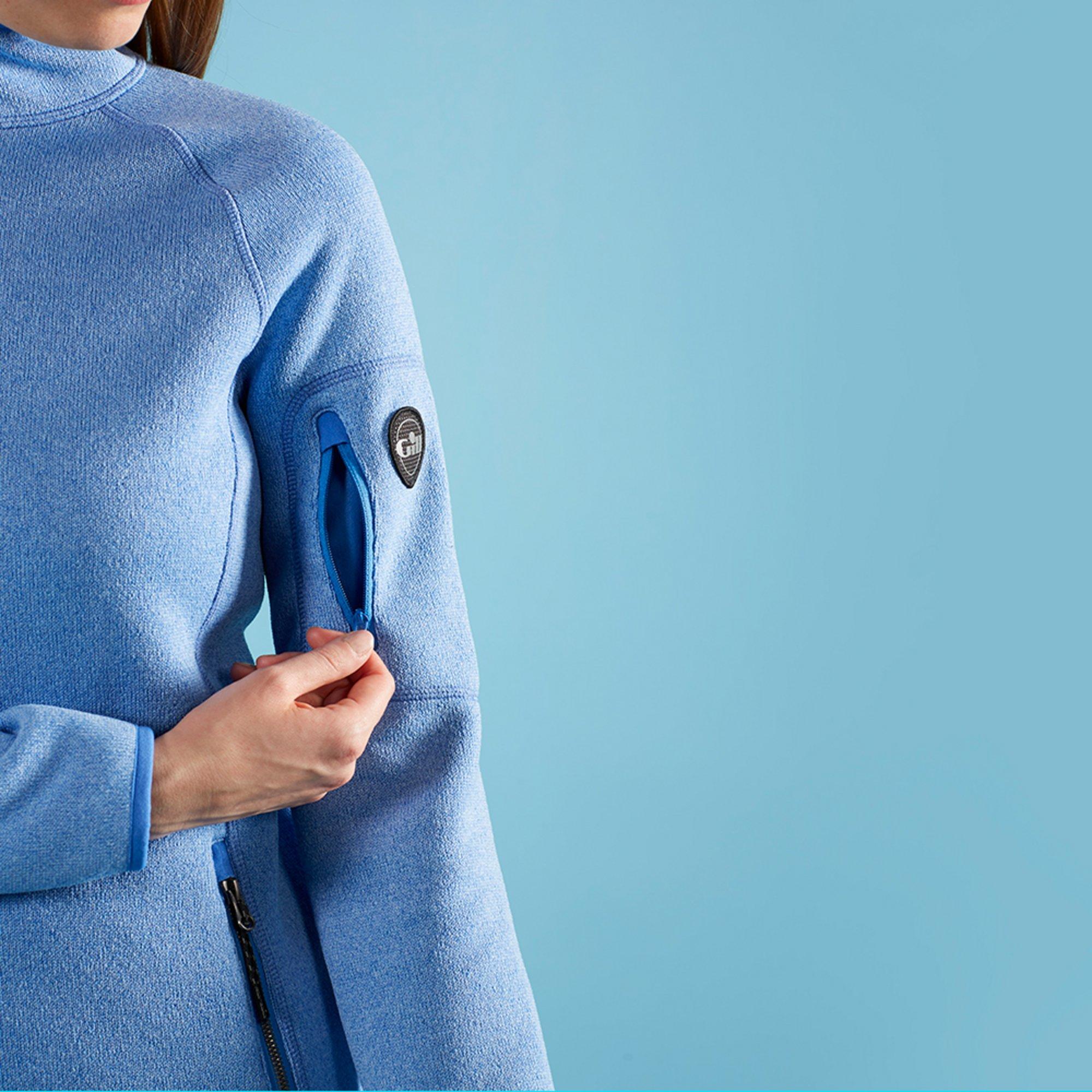 Women's Knit Fleece Jacket - 1493W-BLU18-MODEL-4.jpg