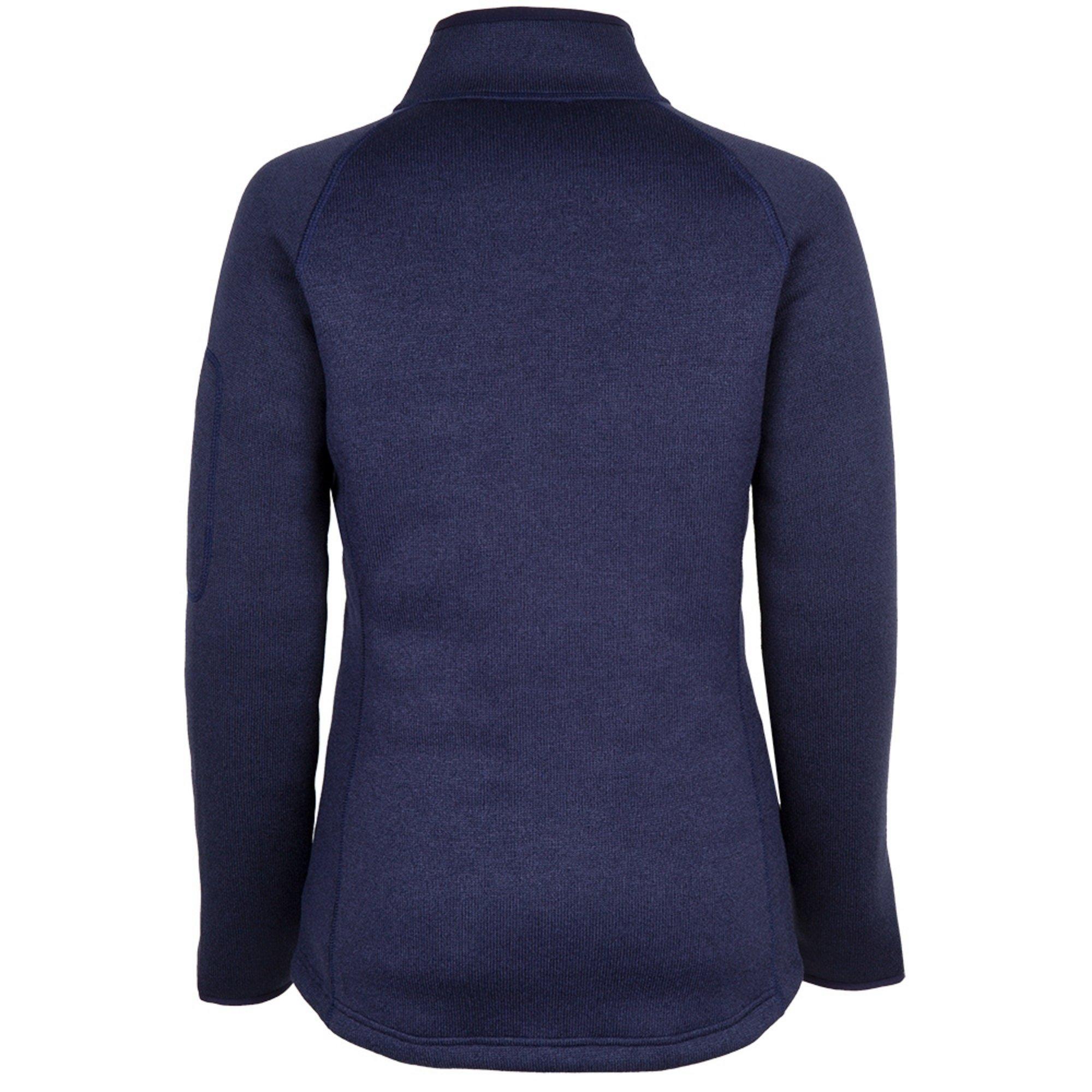 Women's Knit Fleece Jacket - 1493W-NAV06-3.jpg