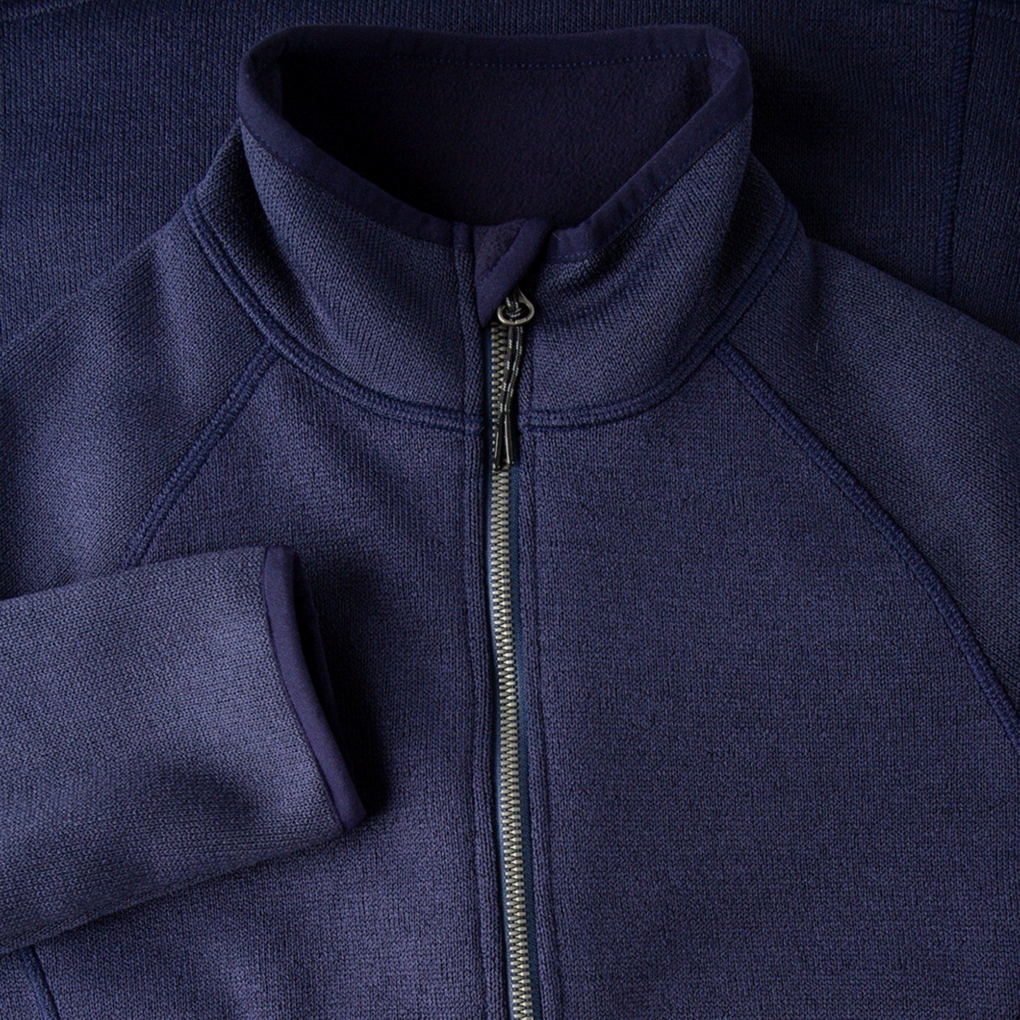 Women's Knit Fleece Jacket - 1493W-NAV06-4.jpg